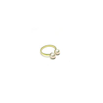 Double Pearla Open Ring