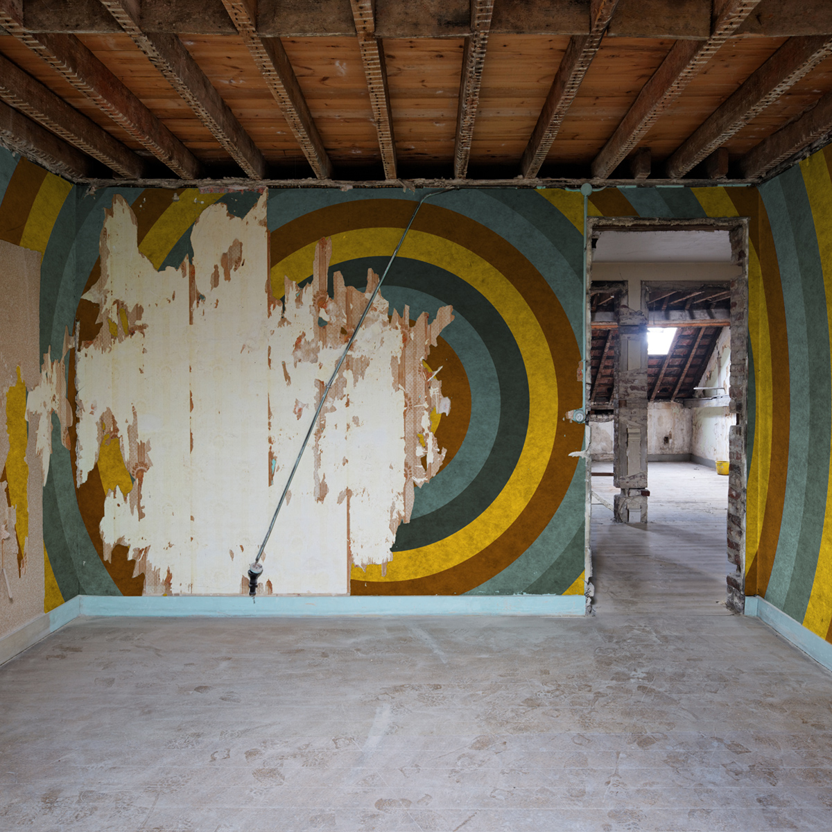 Attic wall drawing #544  ©Xavier Delory