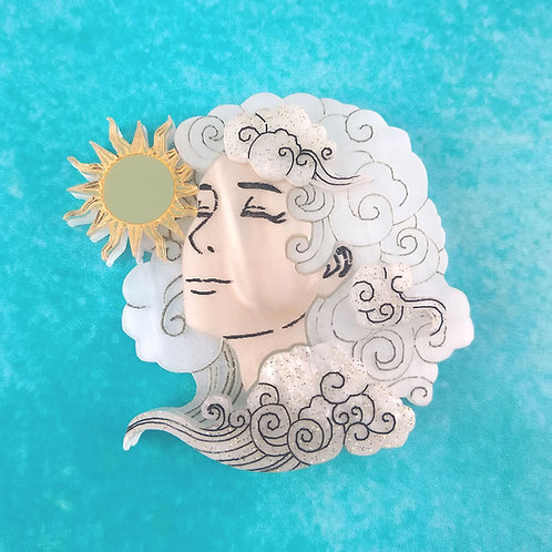 Head in the Clouds Brooch (Sunny Sky)