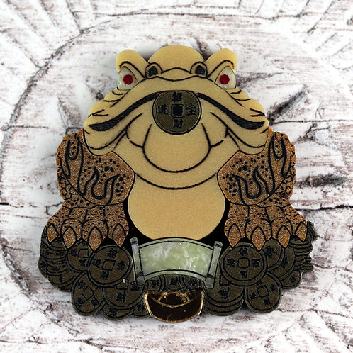 Money Frog Brooch