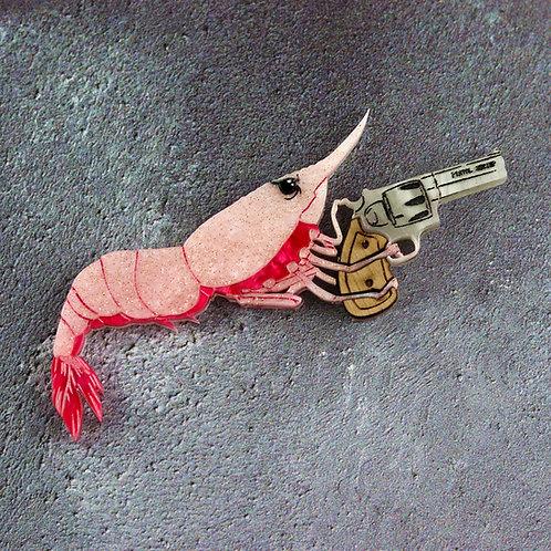 Pistol Shrimp Brooch