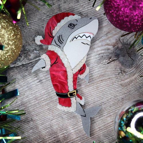 Santa Jaws Brooch