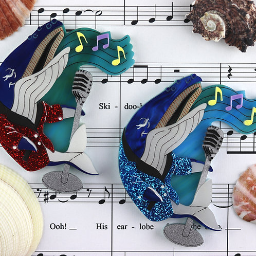 Whale Song Brooch