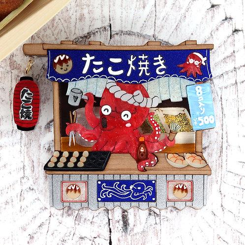 Takoyaki Stand Brooch/Necklace