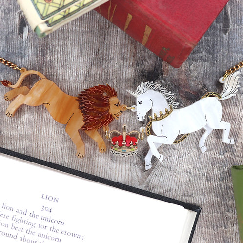 Lion and the Unicorn Necklace