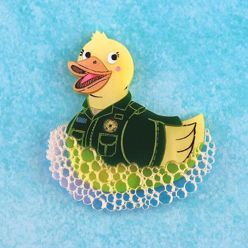 Paramedic Duck Brooch