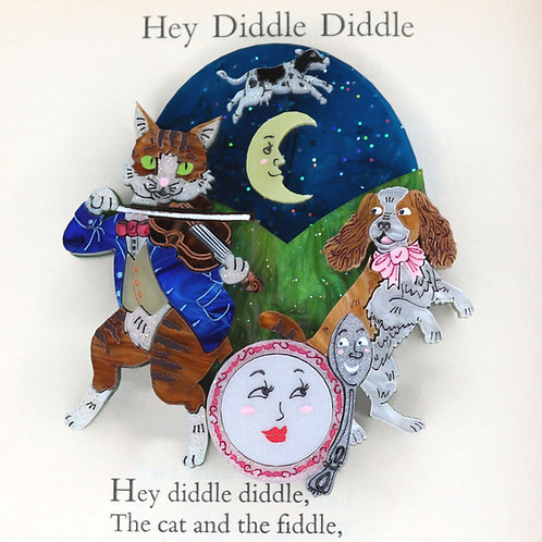 Hey Diddle Diddle Brooch