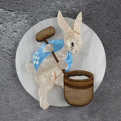 Tsuki no Usagi (Moon Rabbit) Brooch