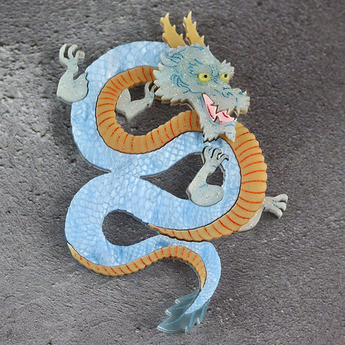 Seiryu, Azure Dragon of the East Brooch/Necklace