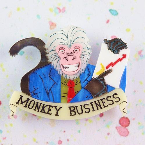 Monkey Business Brooch