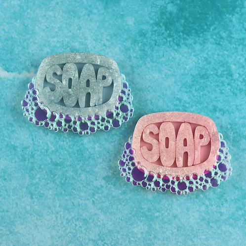 Bubbly Soap Brooch
