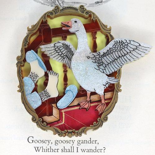 Goosey, Goosey Gander Brooch