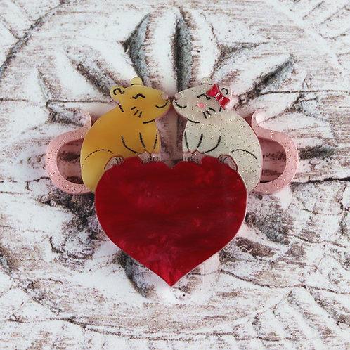 Love Rats Brooch