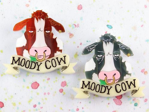 Moody Cow Brooch