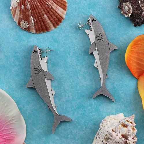 Great White Shark Earrings Pre-order