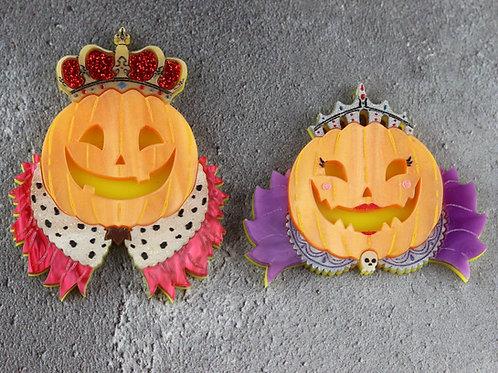 Pumpkin Monarchs Brooches