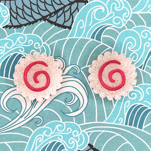 Narutomaki Earrings