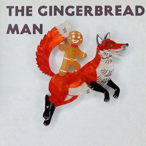 Gingerbread Man Brooch