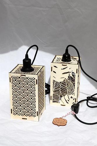 Lampe baladeuse en bois joliment ajouré - découpe laser - lasercut