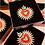 Thumbnail: Broche Coeur Flamboyant - Pin's XL