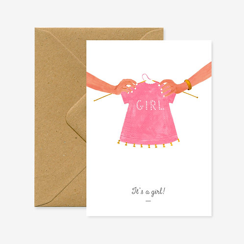 Carte postale it's a girl - All The Ways To say
