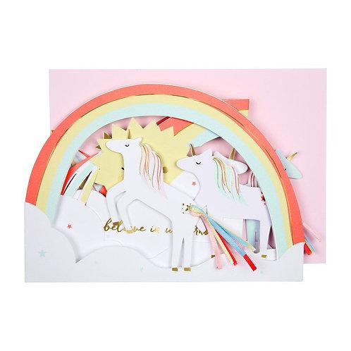 Carte postale Licorne arc en ciel - Meri Meri