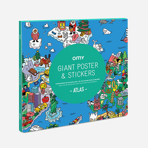 Poster géant & 100 stickers - Omy