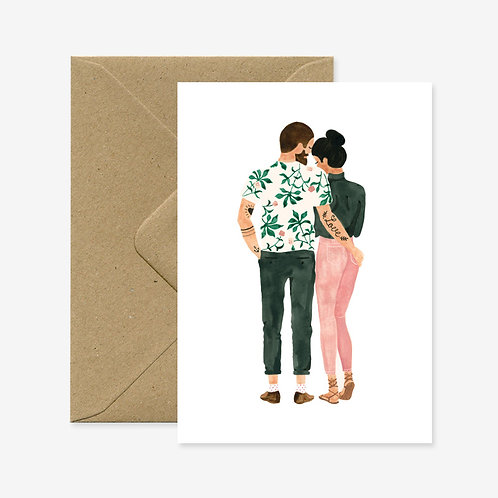 Carte postale loving hipsters - All The Way To Say