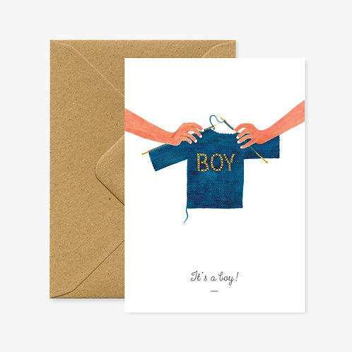 Carte postale it's a boy - All The Ways To Say