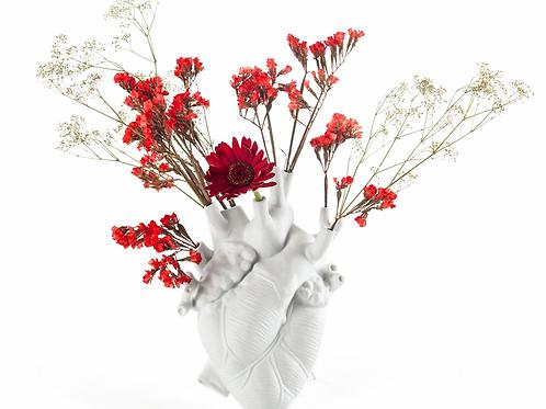 Vase en porcelaine blanc Love in bloom - Seletti