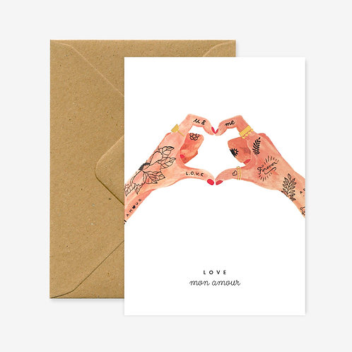 Carte postale hands of love - All The Ways To Say