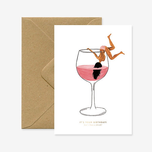 Carte postale just a drink - All The Ways To Say