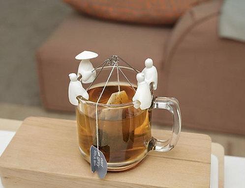 Support sachet de thé pêcheurs Blanc - KIKKERLAND