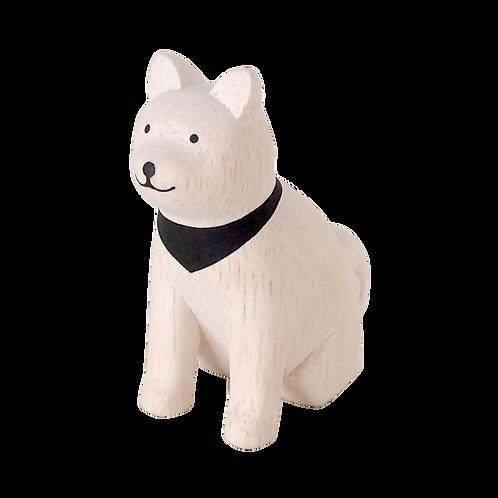 Pole Pole chien akita en bois - T Lab