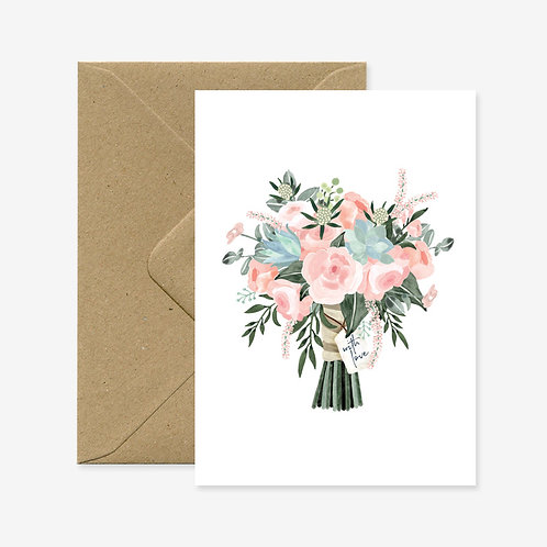 Carte postale bouquet with love - All The Ways To Say