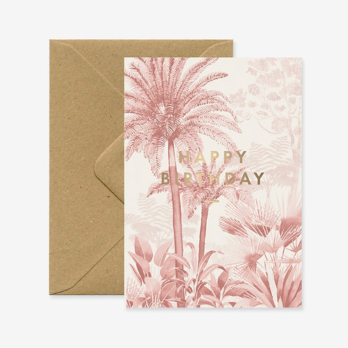 Carte postale happy birthday pink forest - All The Ways To Say