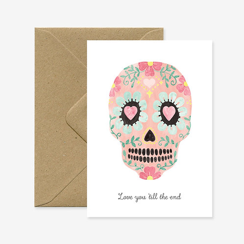 Carte postale love you skull - All The Ways To Say