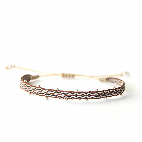 Bracelet perlé marron foncé - Mazonia