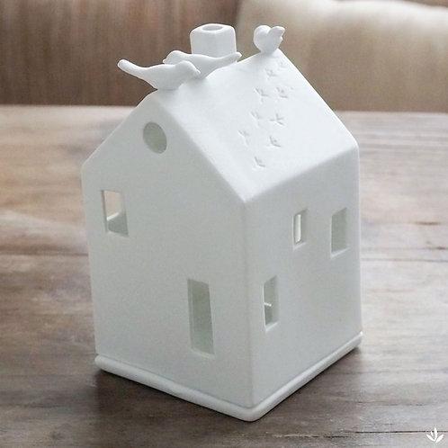 Maison oiseau  en porcelaine - Photophore - Räder