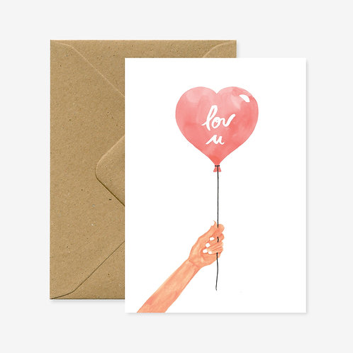 Carte postale heart balloon - All The Ways To Say