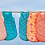 Thumbnail: Gigoteuse 0 - 6 mois - Fleurs des îles gris Petit Pan