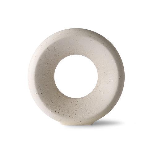 Vase cercle céramique mouchetée - Hk Living