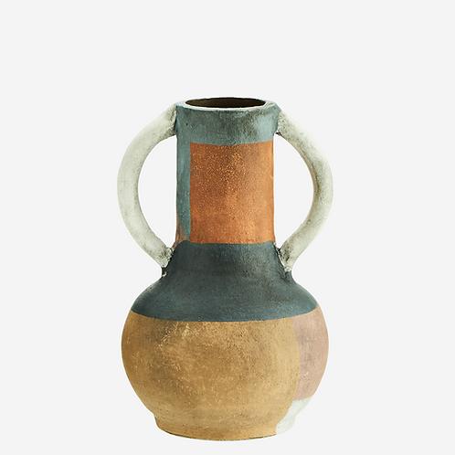Vase terracotta multicolore petit - Madam Stoltz