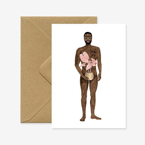 Carte postale naked boy with a plant - All The Ways To Say