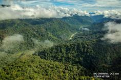 Vista aerea del Río Chirripó