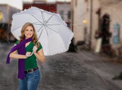 Umbrella_wet pavement