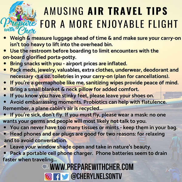AIR TRAVEL PREPAREDNESS TIPS - AMUSING.p