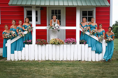 Wedding party, brides maids