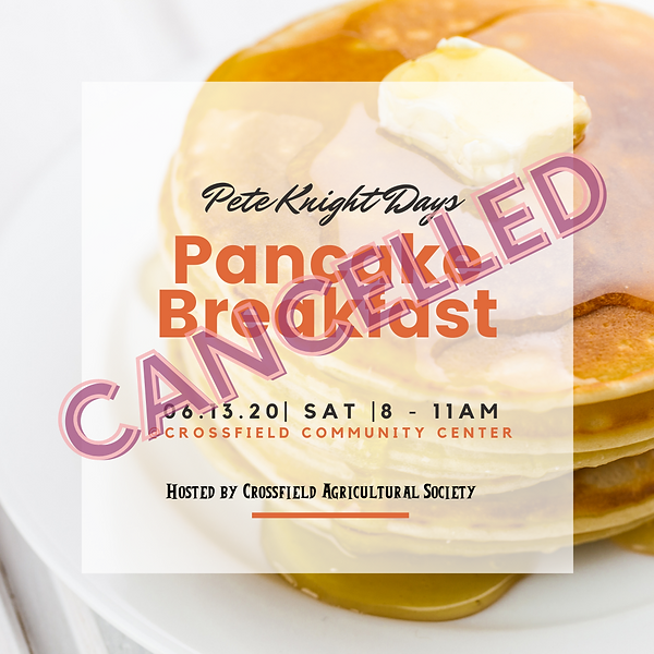 Pancake Breakfast Cancelled 2020