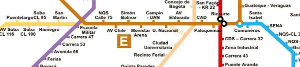 troncal rutas carrera 30 transmilenio Bogotá